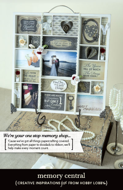 Hobbylobby projects memory central for Hobby lobby craft paper
