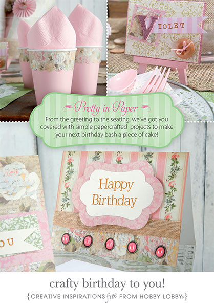 Cake Toppers Birthday Hobby Lobby : HobbyLobby Projects - Crafty Birthday To You