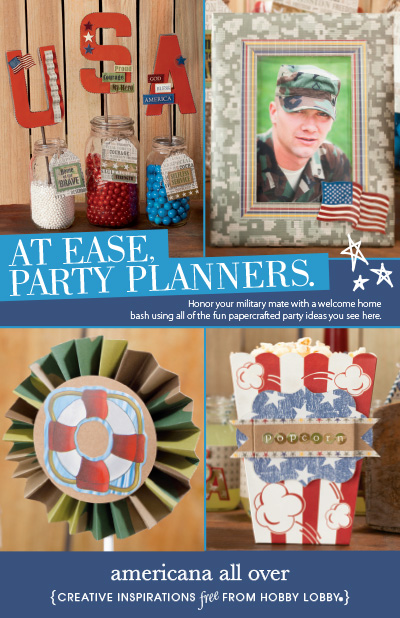 Hobbylobby projects americana all over for Hobby lobby craft paper