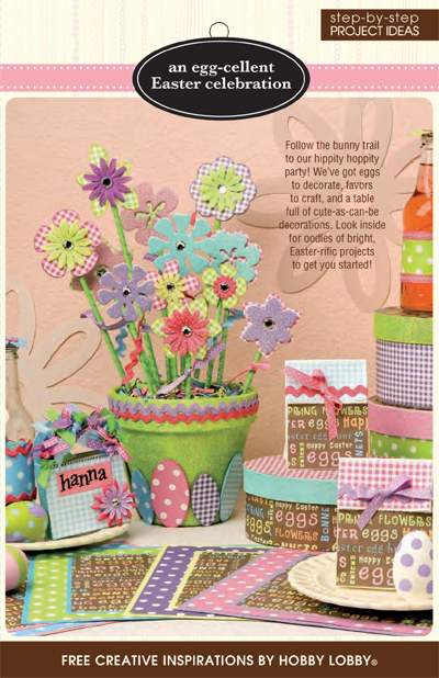 Hobbylobby projects an egg cellent easter celebration for Hobby lobby craft paper