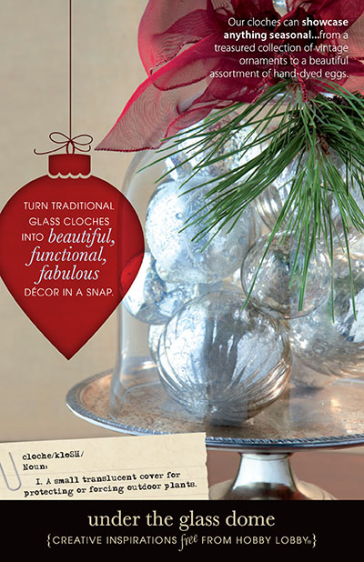 Hobby Lobby Project - Under The Glass Dome - Glass Cloches Decor