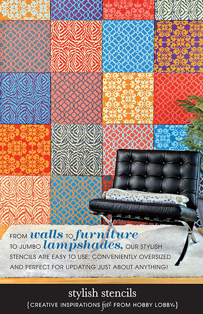 Wall Stencil Patterns Hobby Lobby : Hobby lobby project stylish stencils stencil decor