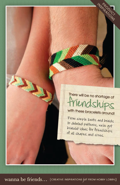 Hobby Lobby Project - Wanna Be Friends... - Friendship Bracelets