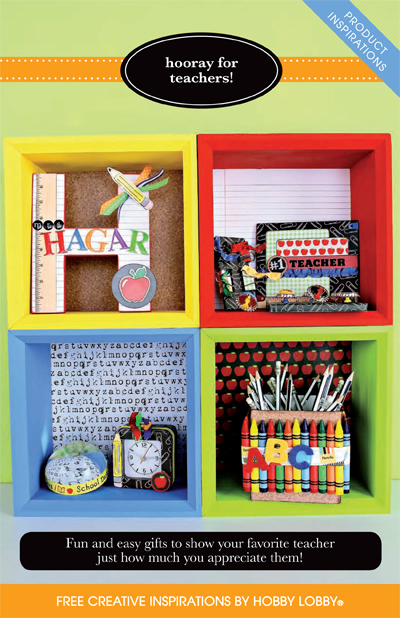 Hobby Lobby Project - Hooray for Teachers! - classroom decor, chalkboards, bulletin boards, picture frame, desk caddy,