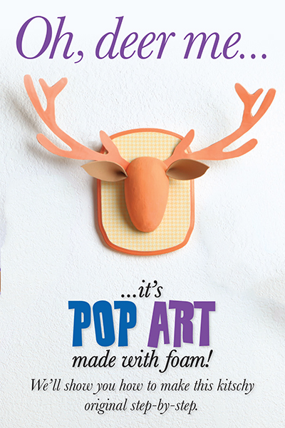 Hobby Lobby Project - antler d'art! - foam, children, child, kid, kids, pop art, decor, paper, papier mache